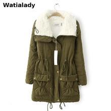 Watialady Women Trench Coat 2017 Spring Autumn Casual Women's Overcoat Female Long Coat Zipper Button Outwear