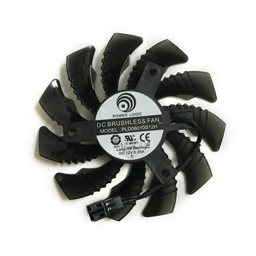 75mm DC 12V Graphics Card <font><b>Fan</b></font> GPU VGA Cooler Replacement <font><b>FAN</b></font> GIGABYTE N960 <font><b>GTX</b></font> <font><b>960</b></font> Video Cards Cooling <font><b>FANS</b></font> image