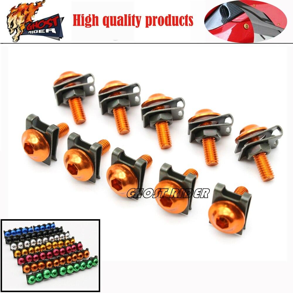 6mm Universal CNC Motorcycle Accessories Fairing body work Bolts Screws orange fits for KTM yamahah honda suzuki kawasaki