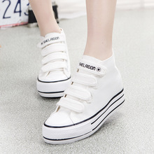 Women Casual2016 New Autumn Fashion Canvas Shoes Woman Casual Flat Women Height Increase