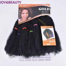Радость и красоты вьющихся волос оплетки парик Синтетические волосы 12 дюймов Наращивание волос высокое Температура Волокно Искусственные парики для Для женщин