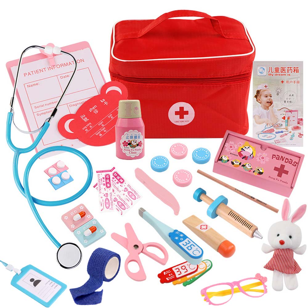 2019 NEW Kids Doctor Toys Role-playing Games Doctor Sets Dentist Medicine Box Pretend Doctor Play Toys For Children