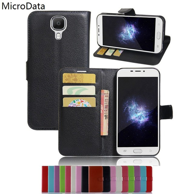 MicroData Luxury PU Leather Flip Case For Doogee X9 Pro X9Pro 5.5 inch Wallet Stand Leather Case Cover On Doogee X9