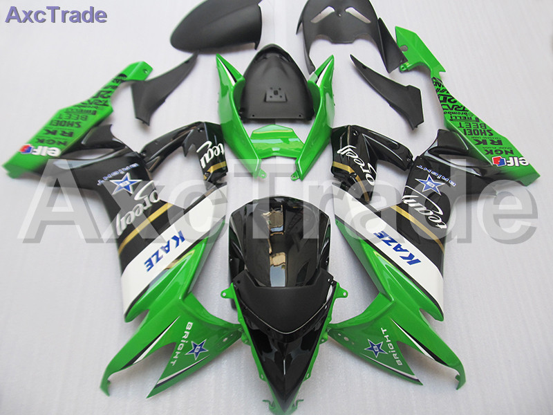 Plastic Fairing Kit Fit For Kawasaki Ninja ZX10R ZX-10R 2008 2009 2010 08 09 10 Fairings Set Custom Made Motorcycle Bodywork black moto fairing kit for kawasaki ninja zx14r zx 14r zz r1400 zzr1400 2006 2007 2008 2009 2010 2011 fairings custom made c549