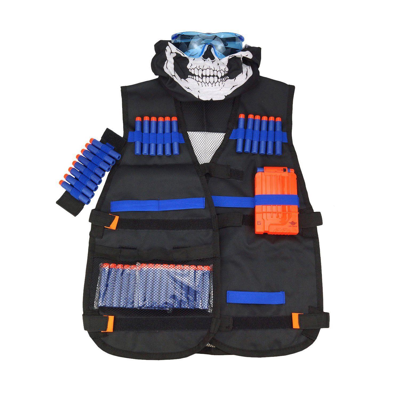 Jogo de colete para nerf guns n-strike série crianças conjunto de colete de recarga rápida para crianças jogo da equipe, 24*20*3cm