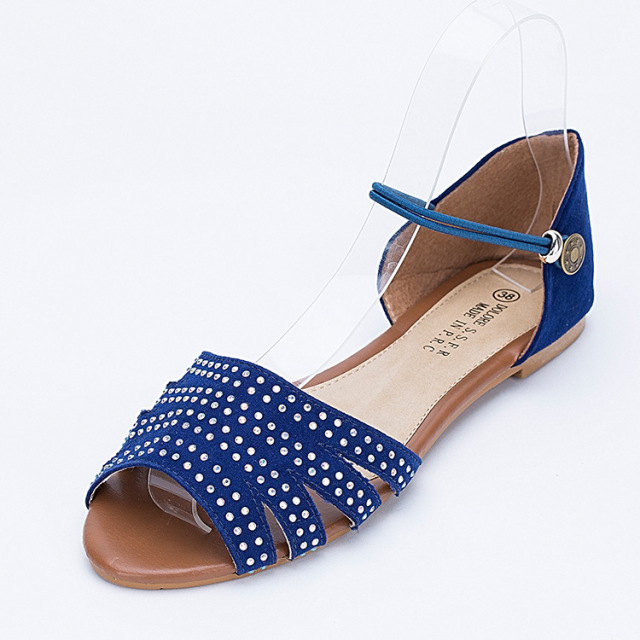 793e765302 New Fashion Woman Rhinestones Flat Closed Back Sandals 3 Colors Summer  Dress Shoes Woman