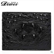 diwei 2017 new hot  crocodile genuine leather men wallet  cross section wallet leisure personality quality goods men purse