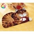 Gancho Tapetes kit dibujos animados gato bordado DIY costura DIY Sets crochet Hilado Esterillas Ganchos de cierre Tapetes imagen kit Alfombras conjunto