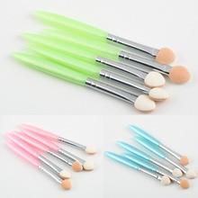 Hot Selling 1set 5 Pcs Beauty Makeup Cosmetics Eye Shadow Eyeliner Brush Sponge Applicator Tool