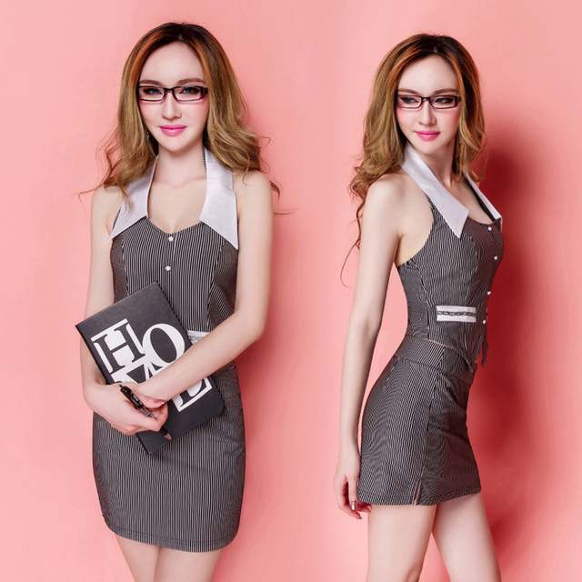 Club DS costume uniform temptation theme party secretary OL white ...