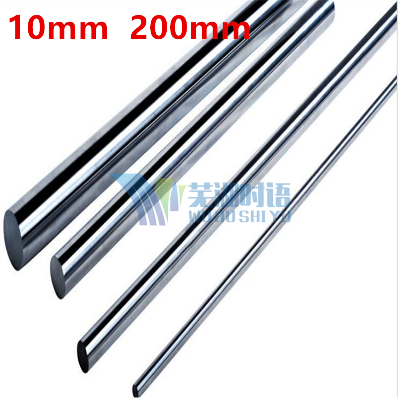 2pcs/lot 10-200mm 10mm linear shaft 200mm long harden chrome plated CNC XYZ part round rod диски helo he844 chrome plated r20