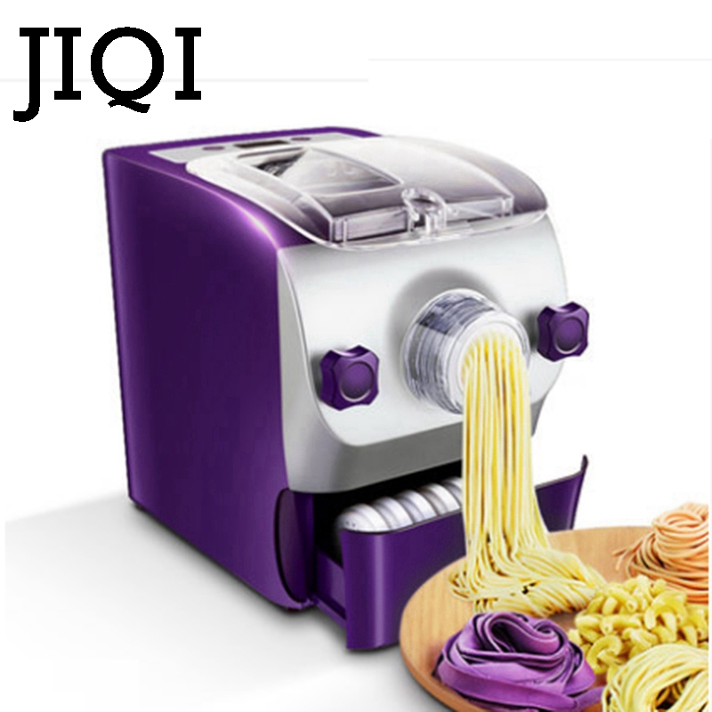 JIQI Noodle maker Household automatic electric dumpling wrapper pressing machine multifunctional mini dough blender processor EU high quality household manual hand dumpling maker mini press dough jiaozi momo making machine