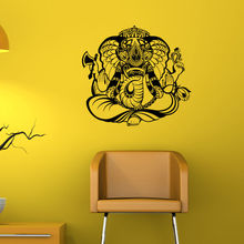 Hot Sale Ganesha Indian Pattern Wall Sticker Removable PVC Home Bedroom Art Decor Decals Vinyl Mural Y-521