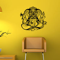 Hot Sale Ganesha Indian Pattern Wall Sticker Removable PVC Home Bedroom Wall Art Decor Wall Decals