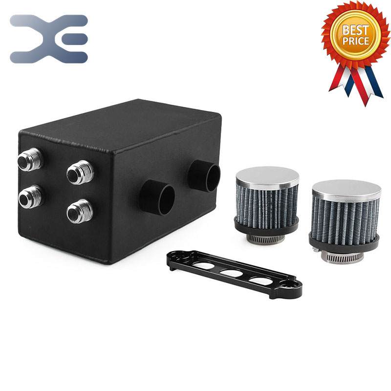 Buy Aluminum Oiler Breathable Oiler 4 Connector 2 Air Filter Tank Honda Lubrication System Parts