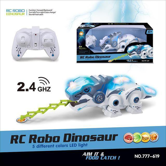 HappyCow 777-619 Remote Control Mechanical Dinosaur 2.4G Four-Way Electric Pet Lighting ChildrenS Educational Toy