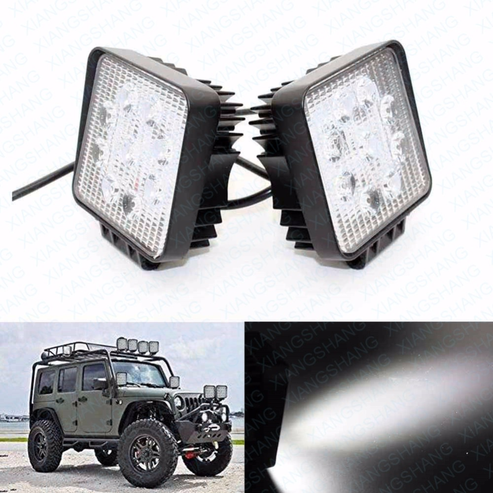 2x 27W 4inch Auto LED Work Light Bar Off Road Driving External Light Worklamp Waterproof Housing Lamp Motorcycle Vehicle Boat new arrivals 20 inch 128led car work light 4 rows 384w led bar combo off road driving lamp