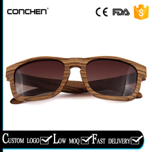 gradient brown polarized lens with zebra wood frames fashional square wooden sunglasses