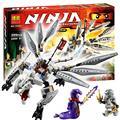 Бела 10323 Titanium Дракон Ниндзя Ниндзя Мастера Кружитцу 360 Шт. Строительные Детские Игрушки Подарок Совместимость С Lego