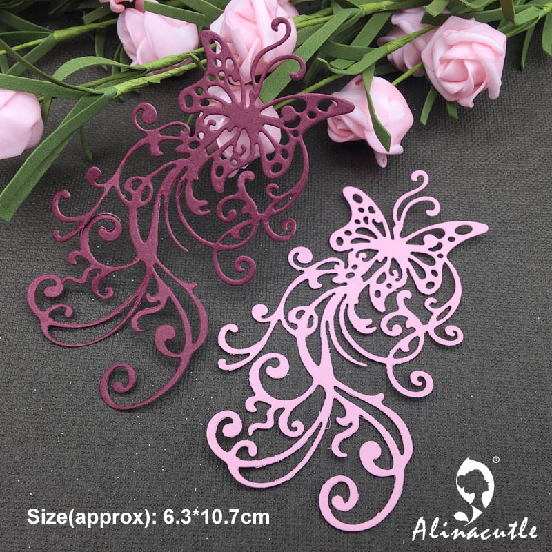 METAL CUTTING DIE Punch-Stencil Die-Cut Album Scrapbooking Vine Lace Alinacraft Butterfly