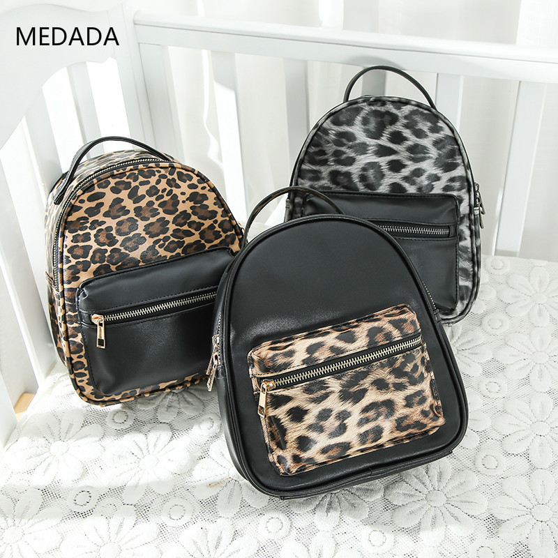 MEDADA  2019 high quality pu Womens Zipper Backpack School Bag For Girls New Fashion Casual Shoulder Bags Women