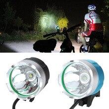 Водонепроницаемый 2000 люмен CREE XM-L T6 светодиодный Водонепроницаемая велосипедная рулевая колонка светильник для велосипед Велоспорт велосипед передний светильник вспышки светильник фонарь