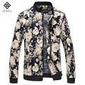 Homens da moda Jaquetas Flores 2017 New Style Primavera Outono Dos Homens jaquetas e Casacos Chaquetas Hombre Casuais 6XL Plus Size Fino Fits