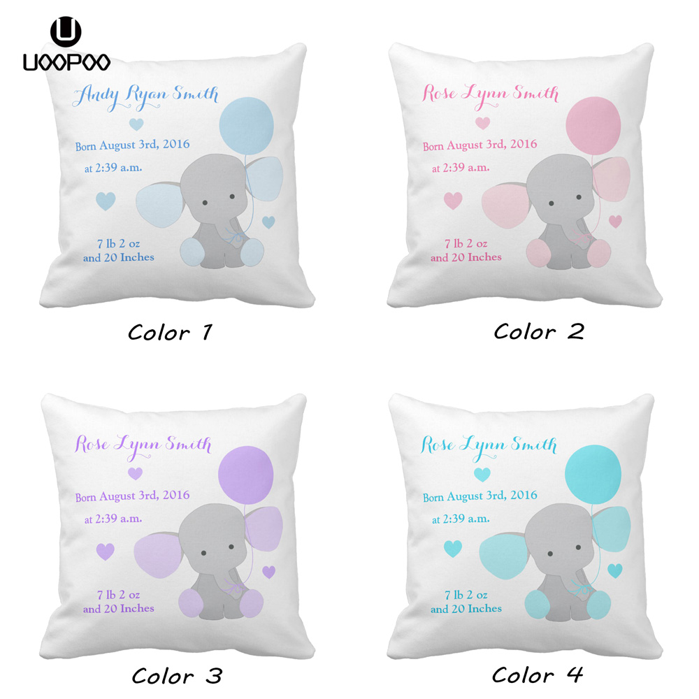 Personalised Cute Unicorns Kids Childrens Cushion Cover Pillow Case /& Filling