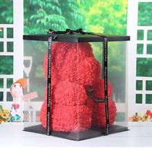 Valentine's Day Gift Bear Rabbit Artificial Flowers Teddy Bear Rose Flower Gifts for Women Gift 2019 25/40/70cm