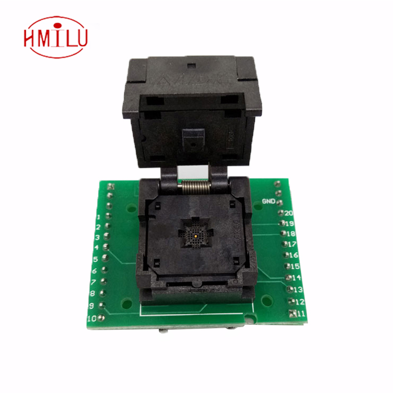 QFN20 MLF20 WLCSP20 to DIP20 Double-Board Programming Socket Adapter Pitch 0.5mm IC Body Size 4x4mm IC550-0204-009-G Test Socket 50pcs tpic6b595n tpic6b595 dip20 new