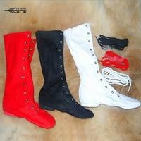 Mens Donne UNISEX Moderna TELA Jazz Ballet Dance Shoes Lace Up Boots Ginnastica/Jazz Dance Stivali