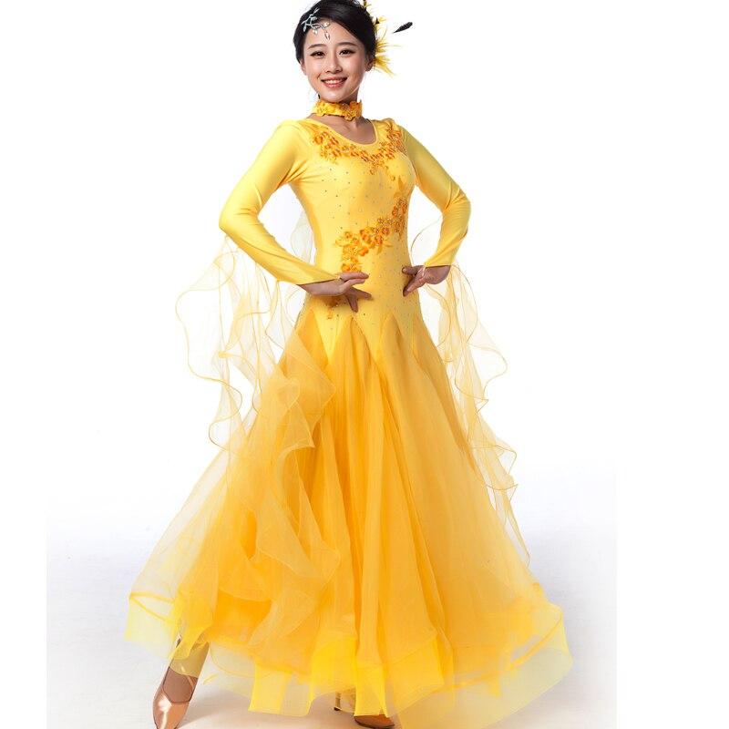 Nuevo estilo de doble hombro para mujeres, salón de baile, vals, - Ropa de danza y vestuario escénico - foto 3