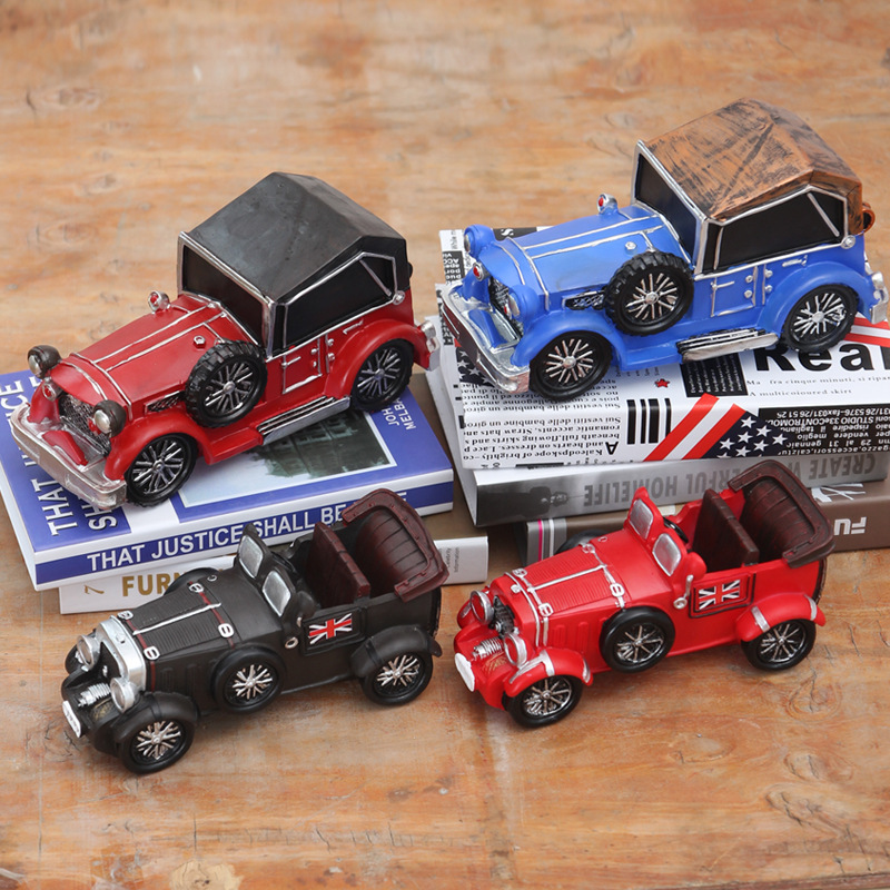 American Retro Car Styling Resin Handicraft Decoration Creative Home Furnishing Entrance Office Desktop Decor Birthday Gift