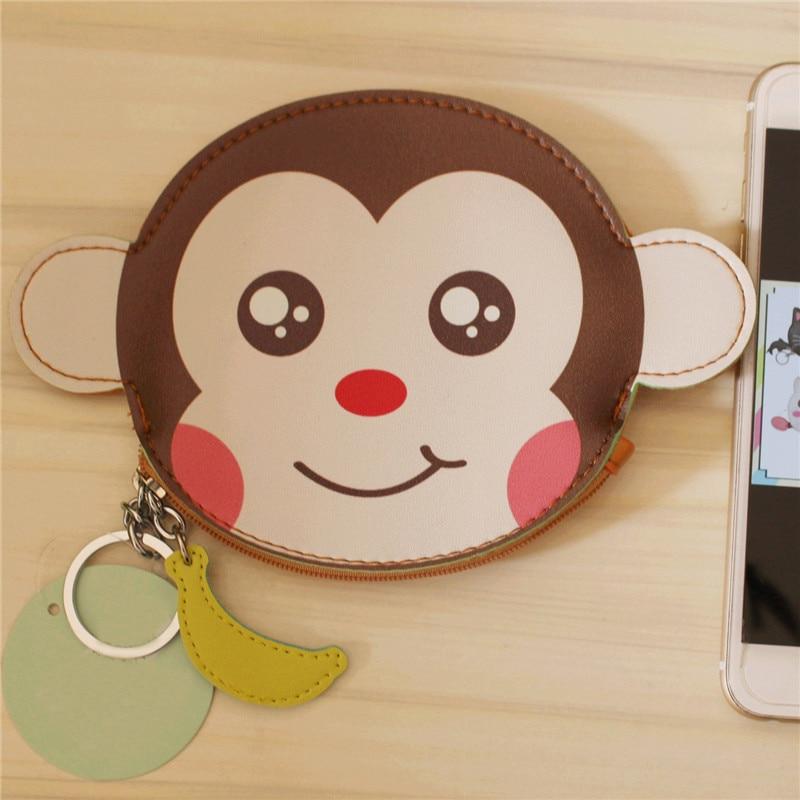 Luggage & Bags New Oval Animals Prints Coin Purse Cartoon Bear Elephant Monkey Panda Pig Girls Key Case Wallet Children Headset Bag Coin Packet