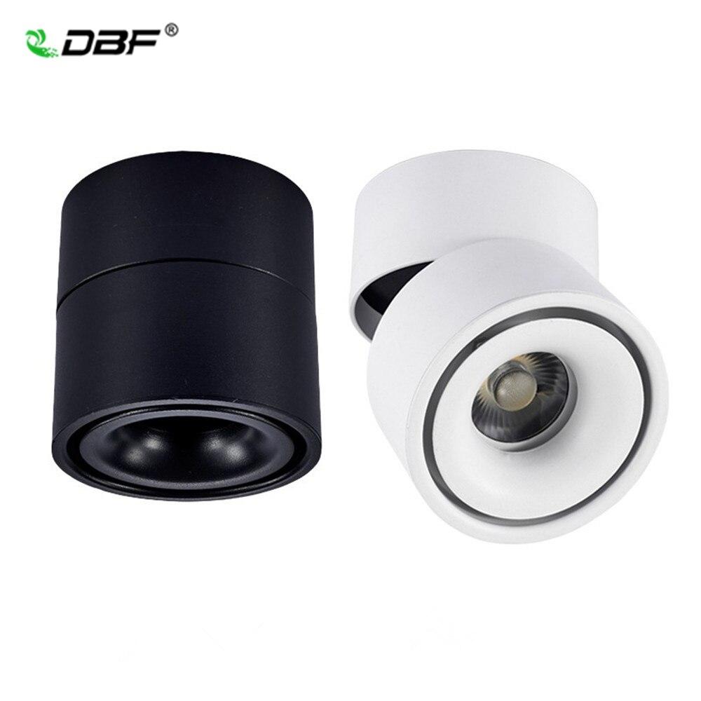 Faltbare 360 Grad Rotation LED Decke Spot Lichter 7W 10W 12W 15W LED Downlight Oberfläche Montiert für Für Küche Bad Licht