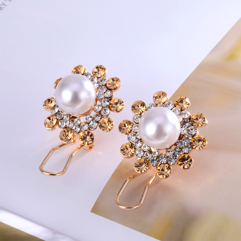 Lost Lady Pearl Flower Earrings For Women Simple Vintage Rhinestone Stud Earrings Fashion Jewelry 2019 Personality Accessories in Stud Earrings from Jewelry Accessories