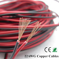 20m 22AWG LED cables 2pin extend wire power cord copper (UL2468)Wire for 5050/3528 LED single color Strip extend Free shipping