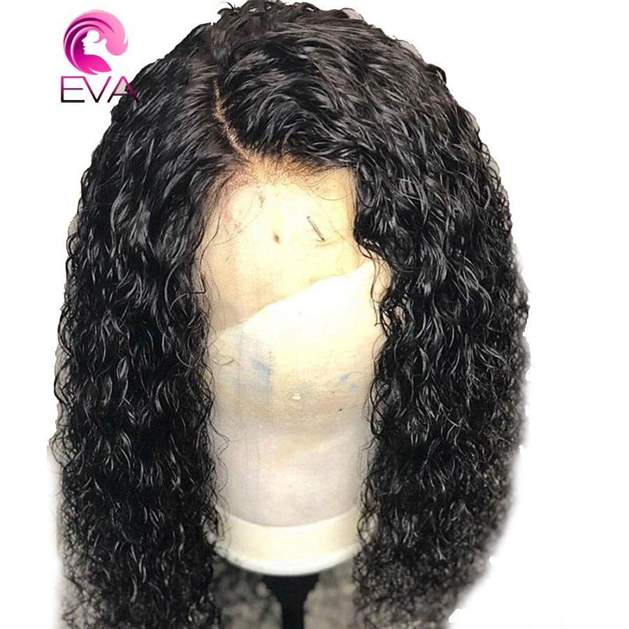 ЕВА полное кружева парики человеческих волос с ребенком волос черный бразильский Волосы remy предварительно сорвал фигурные полные парики ш...