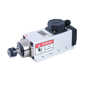 Image 5 - CNC 2.2KW 220V 380V 24000rpm Air cooled Square Spindle Motor ER20 Runout off 0.002mm for CNC milling with Plug/Cable Box Version