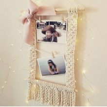 New Bohemian ornaments Pure cotton hand-woven tapestry Home living room bedroom personalized photo folder40*60cm