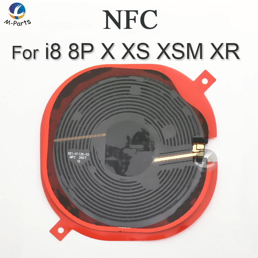 US $6 18 |NFC Chip For iPhone 8 8 Plus X XS XSM XS Max XR Wireless Charging  Charge Panel Coil Sticker Flex Cable Ribbon Antenna Sensor-in Mobile Phone