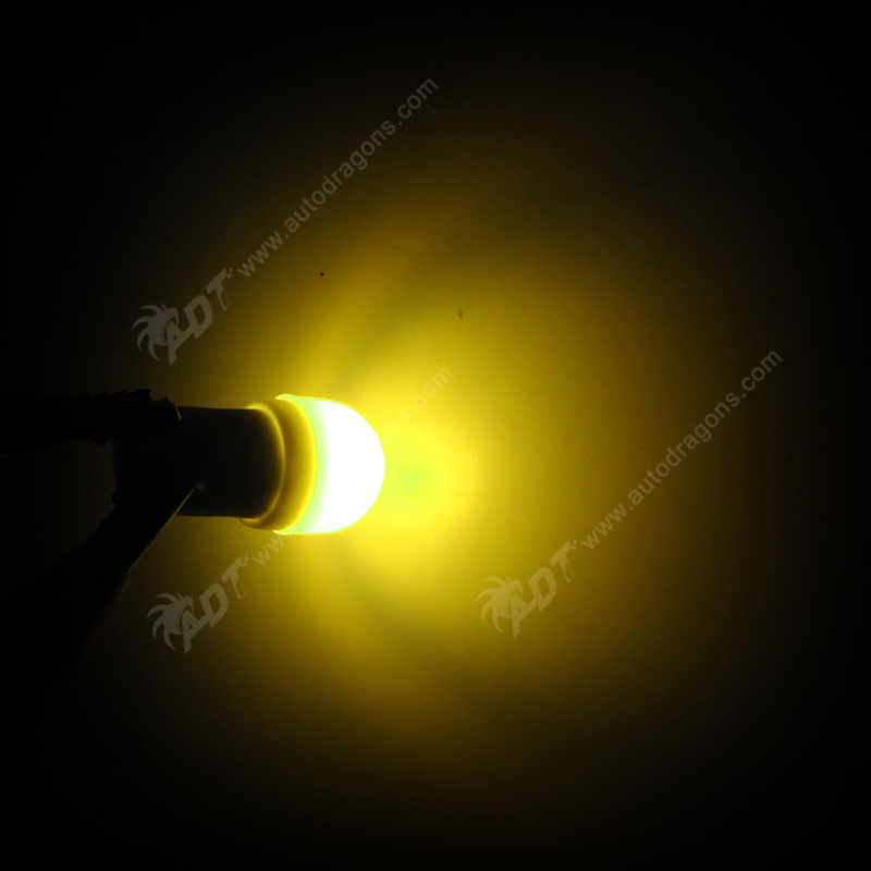 20* #555 wedge AC 6.3V led pinball non flicker No ghosting frosted round lens SMD 1*5050SMD Yellow soft bright