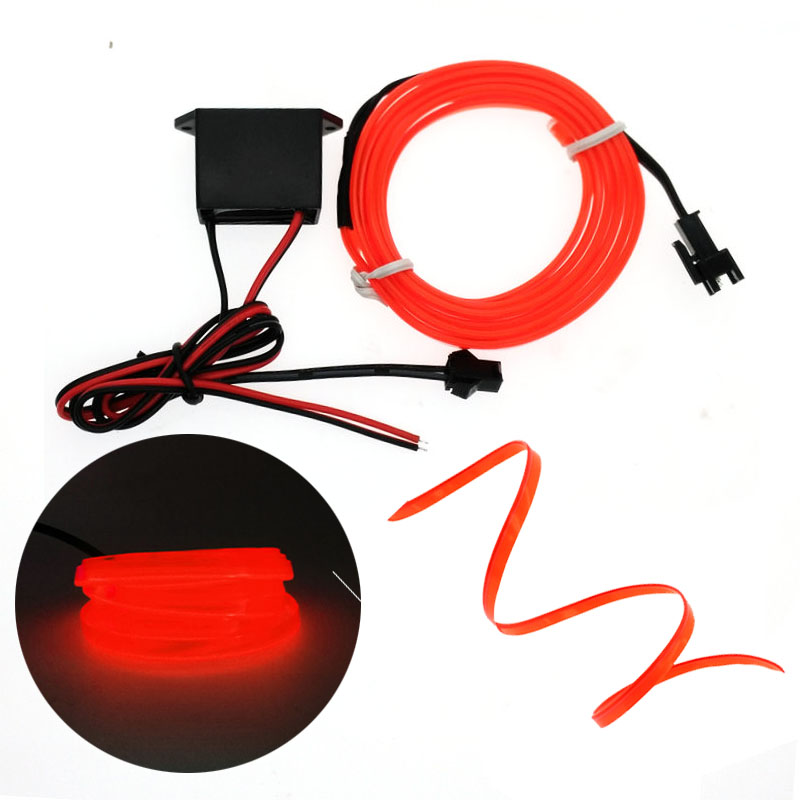 EL Wire 6mm Gwnïo Edge car Neon Car Goleuadau Parti Dawns Decor Car Golau Lampau Wire EL Hyblyg Rope Tube Stribed LED Gyda Gyrwyr DC12V