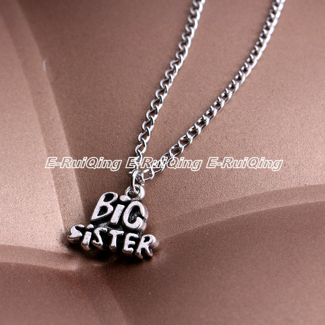 Bespmosp wholesale 24pcslot friendship letterbig sister pendant bespmosp wholesale 24pcslot friendship letterbig sister pendant necklace personalized memorial trendy mozeypictures Image collections