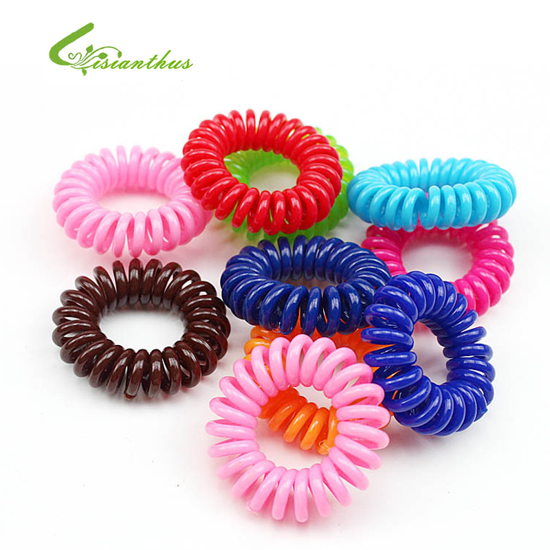 The Best 5pcs Telephone Line Elastic Hairbands Fashion Women Hair Accessories Rubber Hair Band Headwear For Girls Springs Jewelry Girl's Hair Accessories
