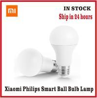 Xiaomi-bombilla LED inteligente Philips, lámpara blanca E27 con Control remoto por aplicación
