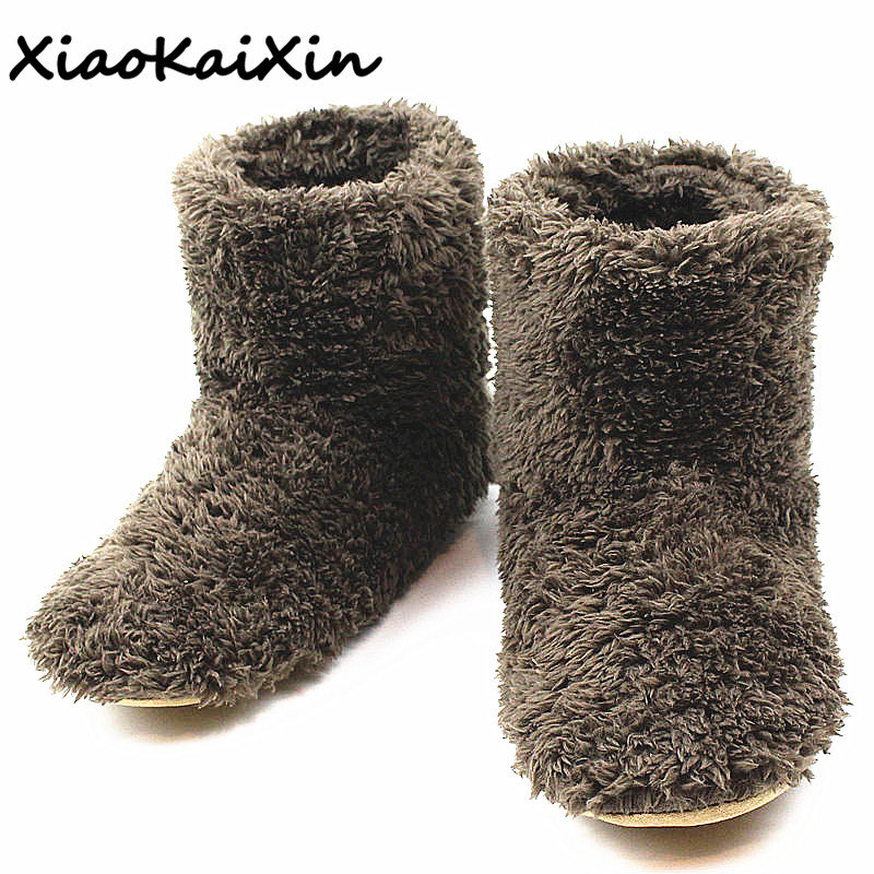 High Quality Lovers Slippers Adult Men/Women Winter Home&House Indoor Floor Shoes Man Plush Warm Furry Fluffy Slipper Mens Flats|Slippers| |  - title=