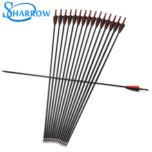 6/12Pcs Archery Spine 500  Fiberglass Arrow 31.5 inches OD8mm For Compound / Recurve Bow Hunting Shooting Accessories