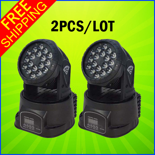 2PCS A Lot Hot Sell 18*3W Mini LED Moving Head Light Small Moving Light For Stage Party And Clubs