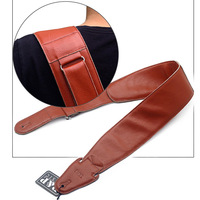 Guitar Strap real Leather Guitar Strap Widest 9cm Electric Guitar Strap Solid Color Leather Instrument Straps guitar accessories